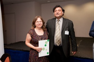 Beyond Distance's very own Highly Commended Terese Bird with Sugata Mitra